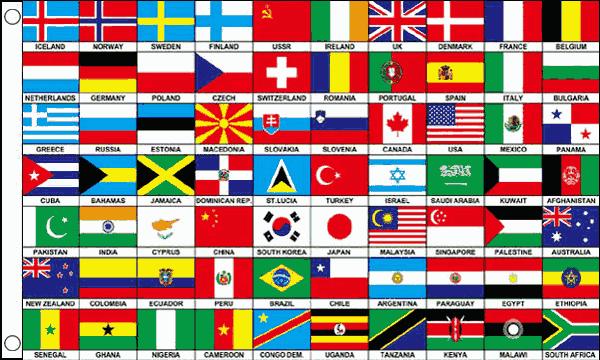 70 Nations Flag