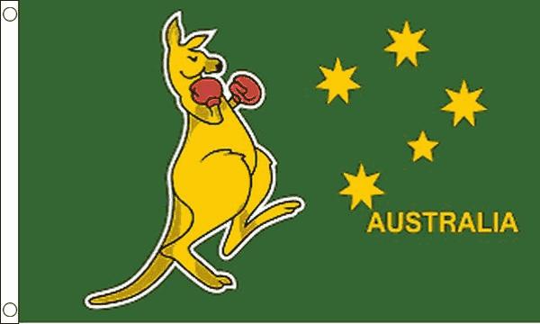 Australia Boxing Kangaroo Flag