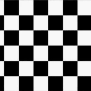 Black and White Checkered Giant Flag