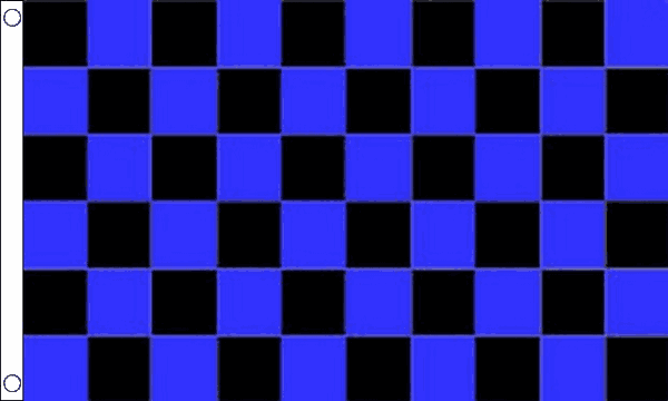 Blue and Black Checkered Flag