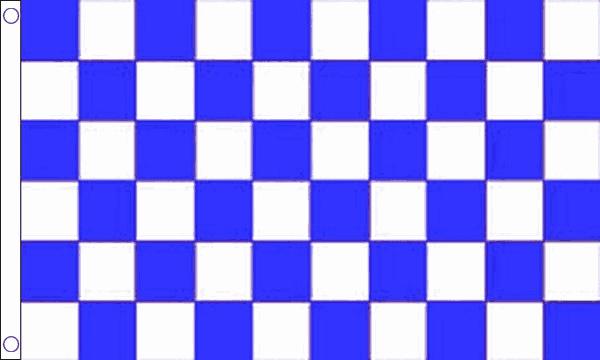 Blue & White Checkered Flag