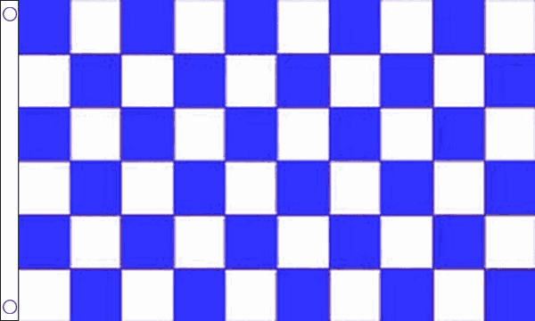 Blue & White Checkered Giant Flag