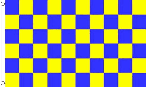Blue and Yellow Checkered Flag