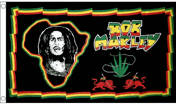 Bob Marley Africa Flag 3ft x 2ft