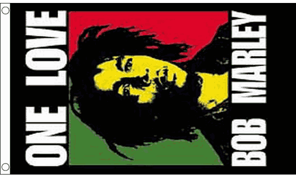 Bob Marley One Love Flag