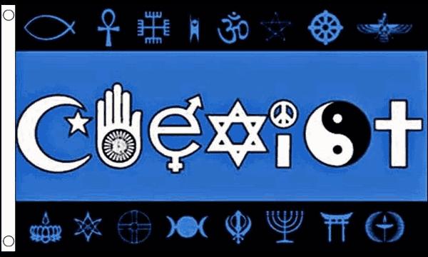 Coexist Flag 5ft x 3ft