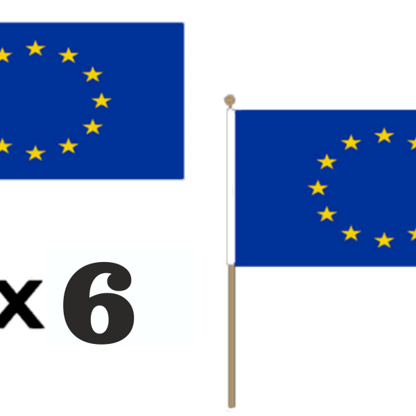 E.U. Hand Waving Flags