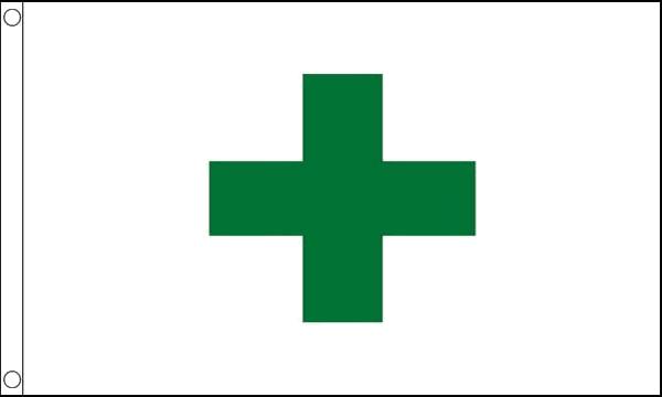 Green Cross Flag