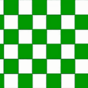 Green and White Checkered Flag