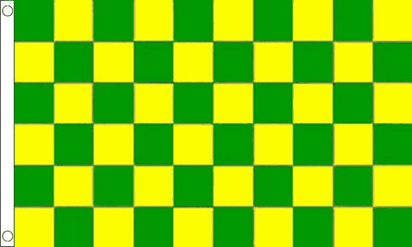 Green and Yellow Checkered Flag