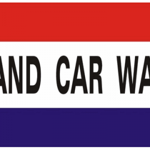 Hand Car Wash Flag