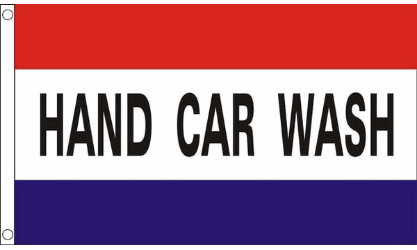 Hand Car Wash Flag