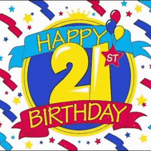 Happy 21st Birthday Flag