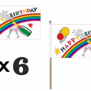 Happy Birthday Hand Waving Flags