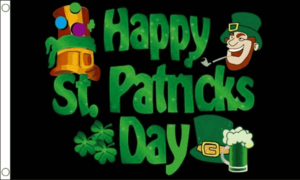 Saint Patricks Day Flags