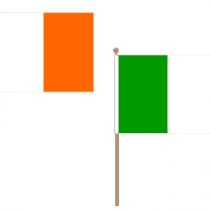 Ireland Hand Waving Flags