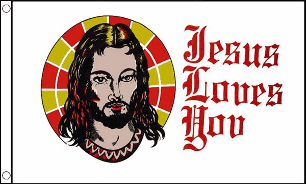 Jesus Loves You Flag 5ft x 3ft