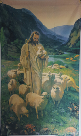 Jesus with Flock Flag