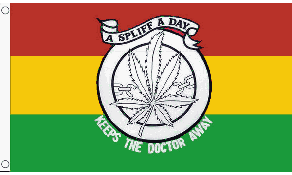 Keep the Doctor Away Flag
