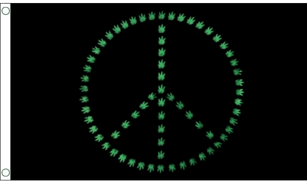 Marijuana Peace Flag