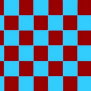 Maroon & Sky Blue Checkered Flag