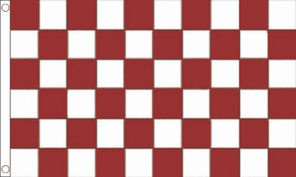 Maroon and White Checkered Flag