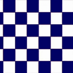 Navy Blue and White Checkered Flag