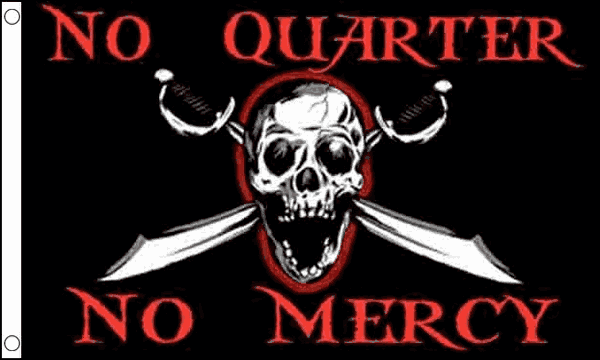 No Quarter No Mercy Flag