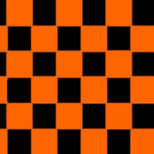Orange & Black Checkered Flag