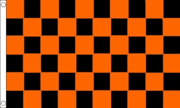 Orange & Black Checkered Flag