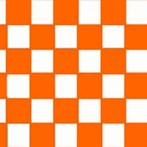 Orange & White Checkered Flag