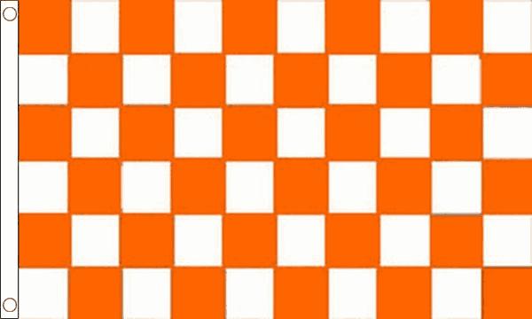 Orange & White Checkered Flag
