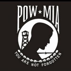 POW MIA White Logo Flag