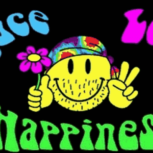 Peace Love and Happiness Flag