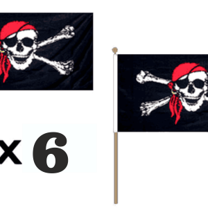 Pirate Bandana Hand Waving Flags