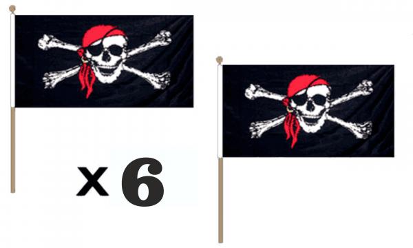 Pirate Bandana Hand Waving Flags
