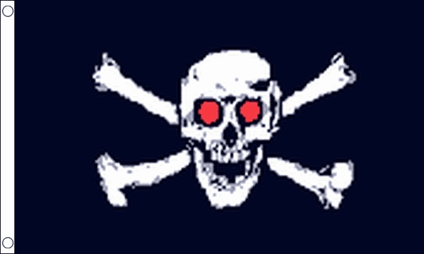 Pirate Red Eyes Flag