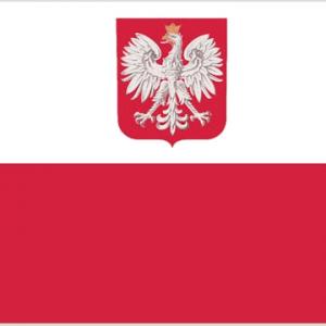 Poland (with Eagle) Nylon Flag