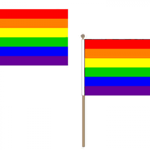 Rainbow Hand Waving Flags