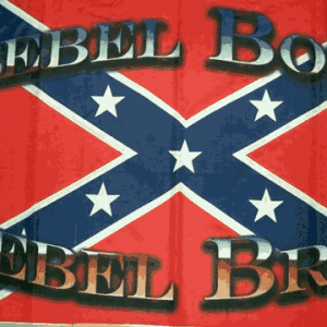 Rebel Born Rebel Bred Flag
