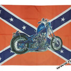 Rebel Motorcycle Flag
