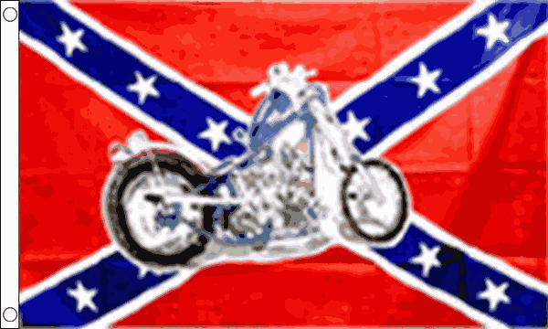 Rebel Motorcyle Flag