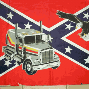 Rebel Truck & Eagle Flag