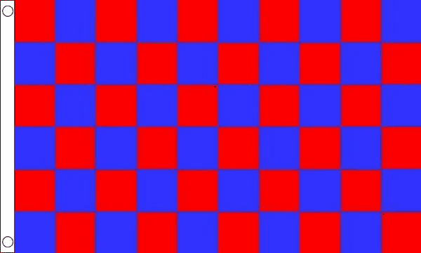 Red and Blue Checkered Flag