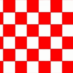 Red and White Checkered Flag