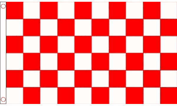 Red and White Checkered Giant Flag