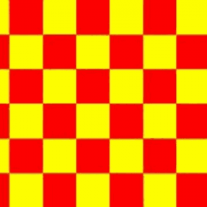 Red and Yellow Checkered Flag