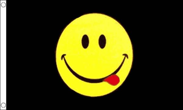 Smiley Face Acid Flag