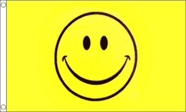 Smiley Face Yellow Flag