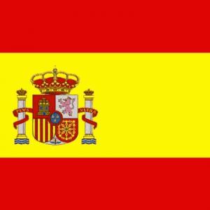 Spain (with Crest) Nylon Flag